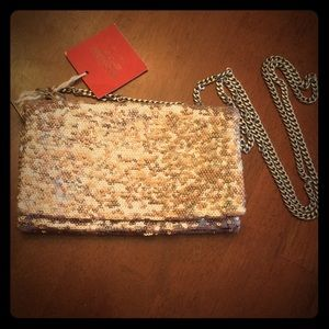 NWT Mossimo pink sequin purse